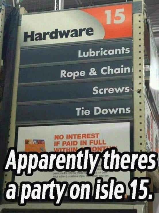 AGWDM ever wonder why some men spend so much time and money at hardware stores