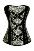 AGWDB black white buckle corset