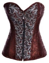 AGWDB brown steampunk corset