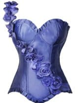 AGWDB purple rose corset
