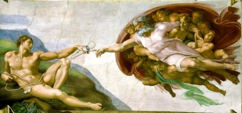 The Creation of the Magic Wand by Michelangelo