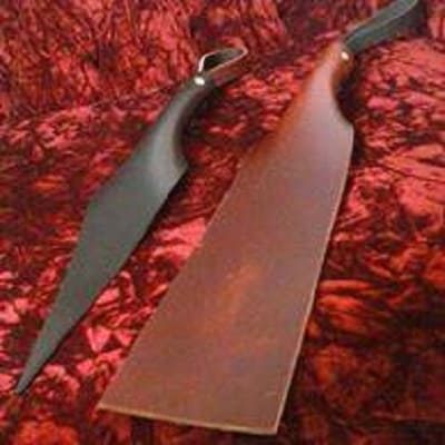 AGWDM justin sayne brown leather slapper